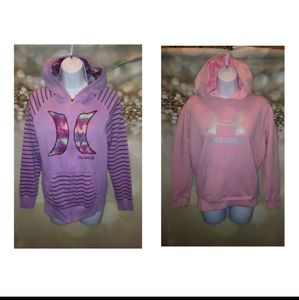Under armour&Hurley youth hoodies